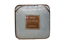 Berkshire Light Blue Luxe Reversible Plush Blanket, Full/Queen