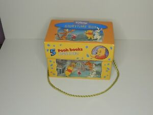 Disney Winnie the Pooh Storytime Box 5 Book Set With Rope Handle Good Condition