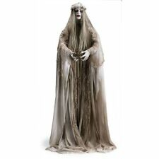Lifesize Halloween Zombie Girl Gruesome Standing Ghost Bride NEW
