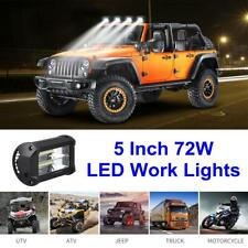 5 Inch CREE LED 72W Work Light Bar Fog Lamp OffRoad Driving Car Jeep Truck Boat