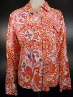 Beautiful Women's XL Coldwater Creek Floral Watercolor Design LS Fitted Jacket