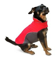 Red Stormguard Fleece Lined Waterproof Dog Padded Thermal Coat Size Small NEW