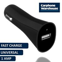 Car Charger 1 USB Port LED Fast Charging Plug in Black by Carphone Warehouse