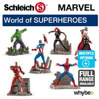 NEW! SCHLEICH PLASTIC FIGURES MARVEL SUPER HEROES RANGE! SPIDER-MAN,IRON MAN....