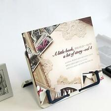 Portable Book Holder Reading Desk Book Stand Folding Bookrest Bookstand New