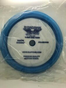 "Gliptone's Blue Foam Curved Edge Polishing Pad - Velcro® Buffing Pad - 7"""
