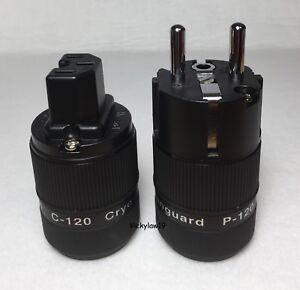 Vanguard CRYO Rhodium Plated C-120R IEC + P-120R Euro Schuko Plug Connector