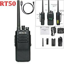DMR IP67 Retevis RT50 Walkie Talkie Digital Dual Time UHF VOX Scan Radio+USB