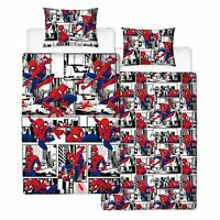 Officiel Spiderman Métropole Set Housse de Couette Simple