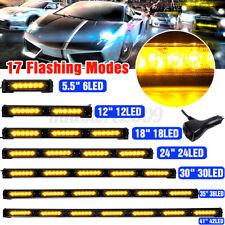 """5.5"""" 12"""" 18"""" 24"""" 36"""" 41"""" LED Emergency Warning Strobe Light Bar Traffic Advisor"""