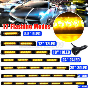"5.5"" 12"" 18"" 24"" 36"" 41"" LED Emergency Warning Strobe Light Bar Traffic Advisor"