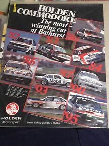 Holden Commodore Most Winning Car At Bathurst Original Dealership Poster Brock