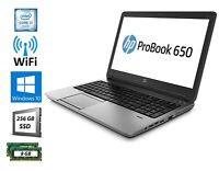HP PROBOOK 650 G1 INTEL CORE i7-4600U 2.90GHZ 8GB RAM 256GB SSD WIN 10 PRO
