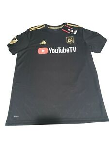 Adidas LAFC Los Angeles FC YoutubeTV MLS 2018 Jersey Size Men's Size Large
