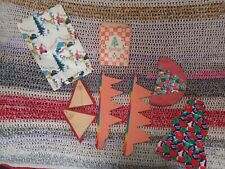 Vintage 1930s-40s Xmas crepe paper decorations Peter Pan + paper gift bags