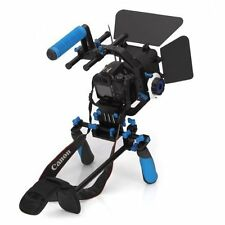 Morros DSLR Shoulder Mount Rig Stabilizer Support System + Follow Focus + Matte