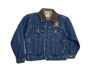 Harley Davidson Tasmanian Devil Childs Jacket size 7/8 Warner Bro denim leather
