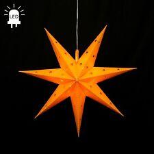LED étoile de l'Avent plié ETOILE Ø 45 STAR EN PLEIN AIR Noël 7 Zigzag Jaune