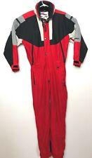 VTG 90s Obermeyer Mens Medium Ski Full Snowsuit Outdoors Winter Insulated Red