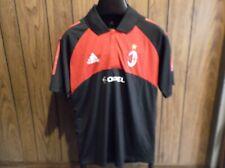 AC Milan Polo shirt Adidias Climalite NWT New short sleeve Opel black red medium