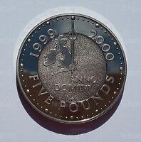 2000 U.K. £5 Royal Mint Millennium Proof  Five Pound Coin ( only 100,000 )