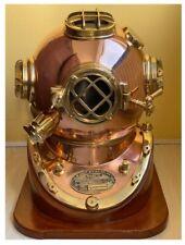 Vintage Diving Helmet Pure Brass Copper Metal Mark V Heavy Model Reproduction