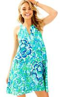 Lilly Pulitzer Achelle Agate Green Lazy River Swing Dress XXS