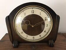 Vintage Art Deco Smiths Reloj De Madera Chimenea