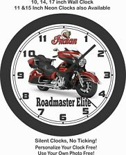 2019 INDIAN ROADMASTER MOTORCYCLE WALL CLOCK-Choose 1 of 2 Models.