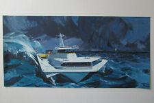 Lou Feck original signed illustration painting boating nautical art