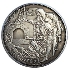 Hobo Nickel Coin 1921-P Morgan Dollar Hand Carved Coins Best Gift Collection