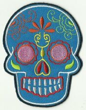 écusson ECUSSON PATCHE PATCH THERMOCOLLANT GIRL SKULL MEXICAN TATTOO 9 X 7 CMS