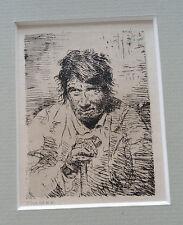 """Eugenio Lucas Velasques (1817-1870), """"Un Mendiant"""" (A Beggar), Etching"""