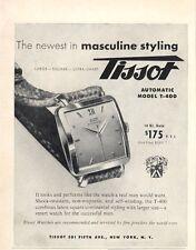 1954 TISSOT PRINT AD Model T - 400 Automatic Watch $175