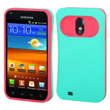 US Cellular Samsung Galaxy S II 2 TPU Candy HYBRID GLOW Case Cover Green Pink