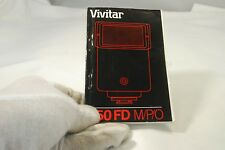 Vivitar 550FD M/P/O Flash Instruction Manual  Guide English 7219019