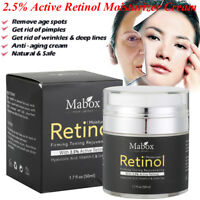 Retinol 2.5% Face Cream Serum Wrinkles Anti-Aging Hyaluronic Acid Vitamin E