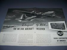 "VINTAGE..BOEING B-29 SUPERFORTRESS ""RCA"".. SALES AD...RARE! (553D)"