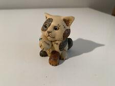 Harmony Kingdom Pot Bellys Trinket Box Cat 'Aqua' 2002