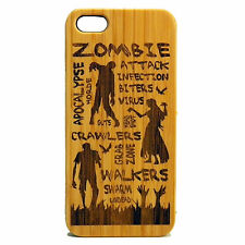 Zombie Attack Case for iPhone 6 Plus or iPhone 6S Plus Bamboo Wood Cover Death