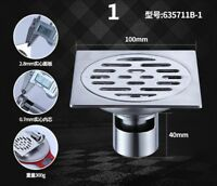 304 Stainless Steel Shower Floor Drain Strainer Square Bathroom Grate Home Decor