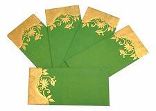 5 Lime Green Shagun Salami Money Gift Cash Envelopes-Indian Wedding Accessory