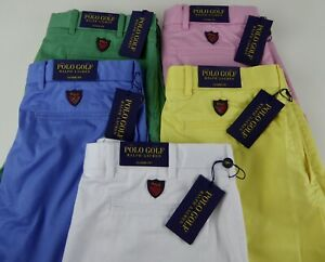 Ralph Lauren Polo Golf Performance Stretch Shorts NWT $85 Flat Front Classic Fit
