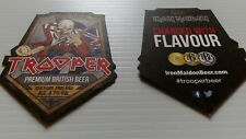 Iron maiden trooper beer mats robinsons mint condition unused x two