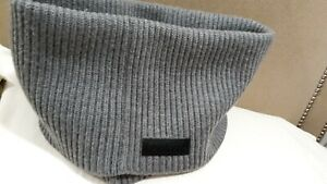 BURBERRY SCARF INFINITY SNOOD GRAY AUTHENTIC NWOT