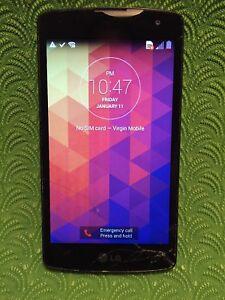 LG Phone Tribute LS660 4GB White (Virgin Wireless) Cracked Glass Good IMEI