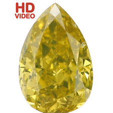 Natural Loose Diamond Pear SI2 Clarity Green Yellow Color 5.50 MM 0.41 Ct N7021