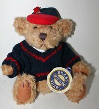 """Vintage Brass Button Bear """"Tully"""" The Bear of Joy - Mint With Tags - 11"""""""