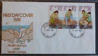 1981 NEW ZEALAND HEALTH STAMPS SET 3 STAMPS FDC FIRST DAY COVER