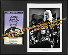 JANIS JOPLIN and JOHNNY WINTER 1969 8x10 PIECE READY TO FRAME L.E. ACID FREE MAT